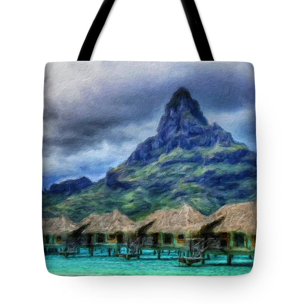 Landscape Tote Bag featuring the painting Nature Oil Paintings Landscapes by World Map