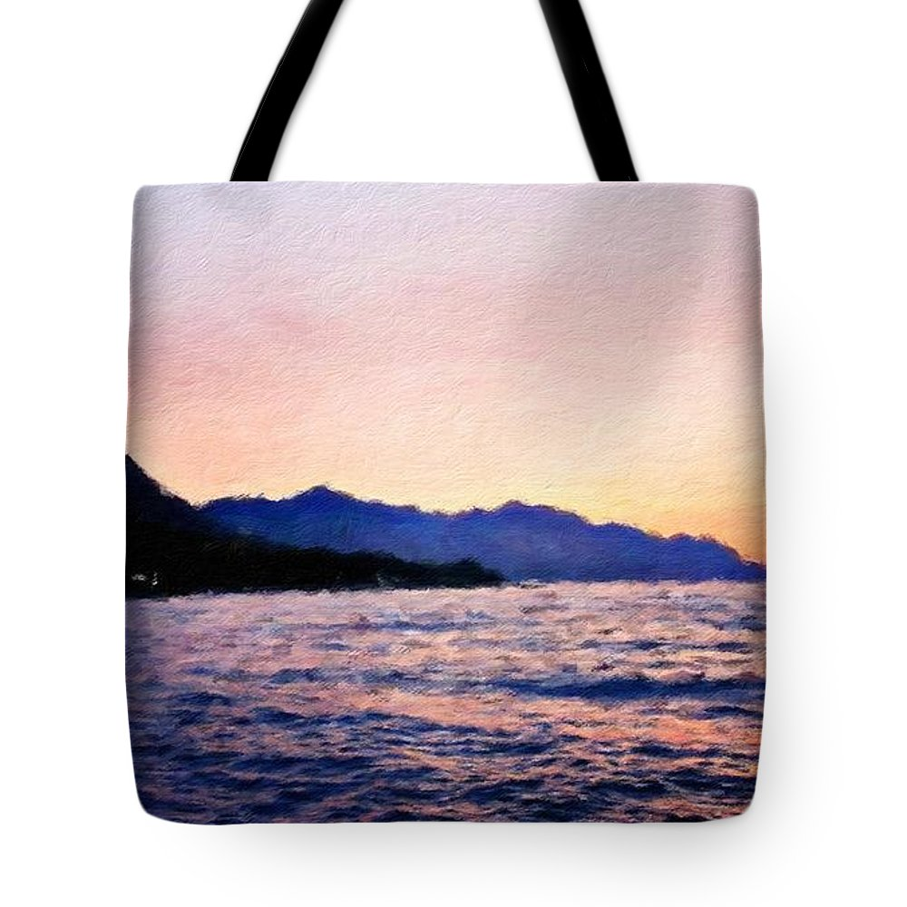 Landscape Tote Bag featuring the painting Nature Original Landscape Painting by World Map