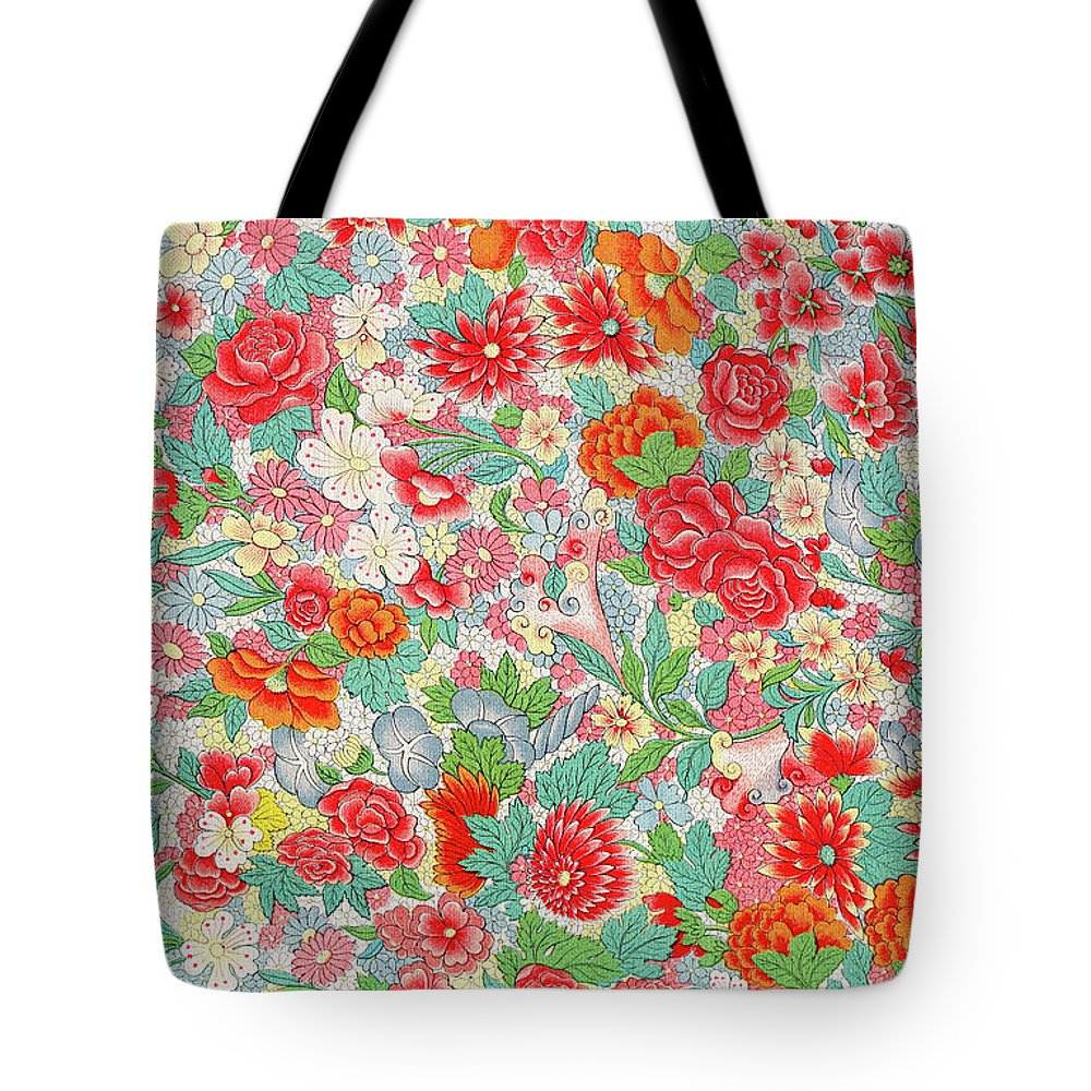 Colorful Red Flowers Art Pattern Prints Bright Pastel Floral Art