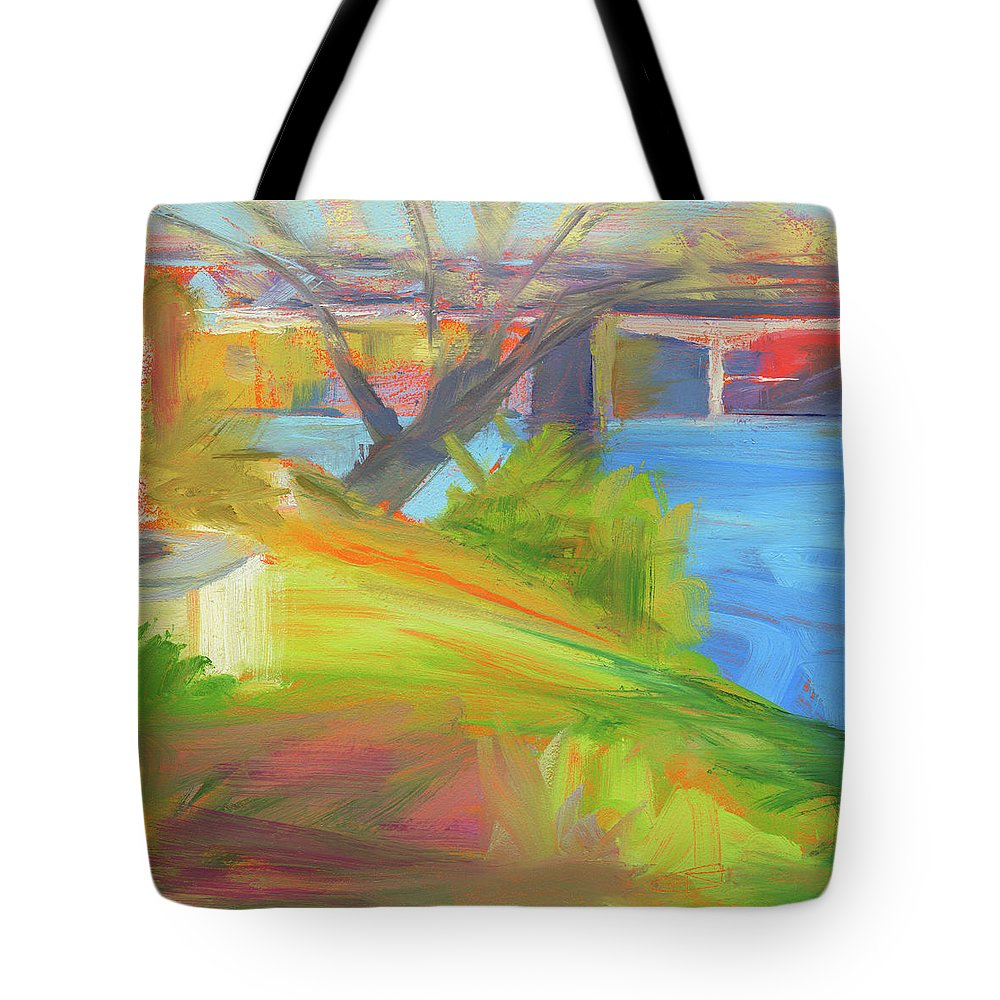 22607 Tote Bag featuring the painting Rcnpaintings.com by Chris N Rohrbach
