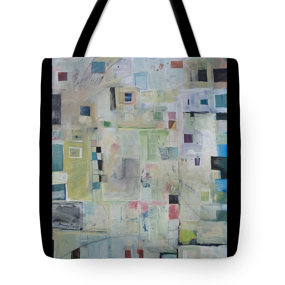 Abstract Tote Bag featuring the painting 7am In The City That Doesn by Tim Nyberg