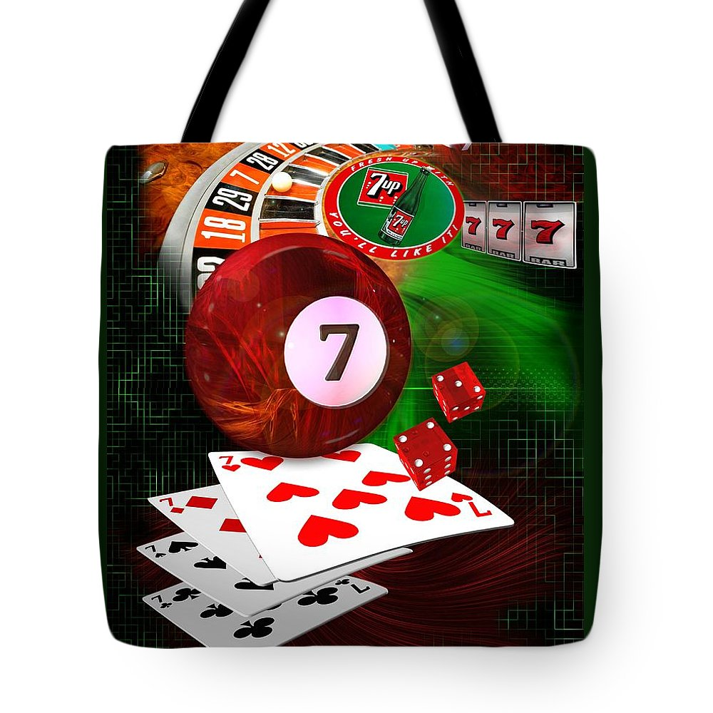 Pool Tote Bag featuring the digital art 7's Up by Draw Shots
