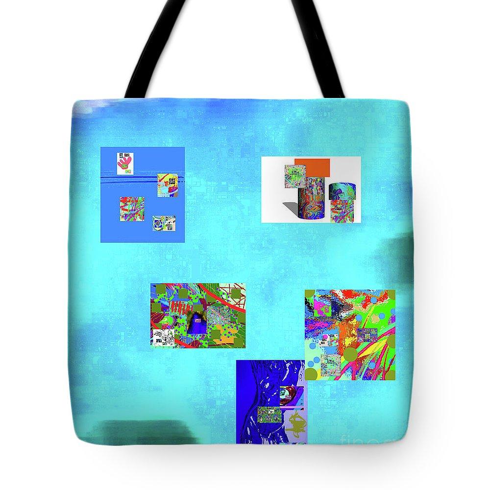 Walter Paul Bebirian Tote Bag featuring the digital art 8-10-2015abcdefgh by Walter Paul Bebirian