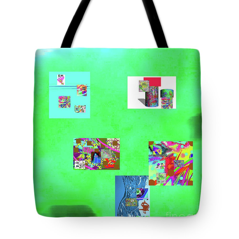 Walter Paul Bebirian Tote Bag featuring the digital art 8-10-2015abcdefghijkl by Walter Paul Bebirian