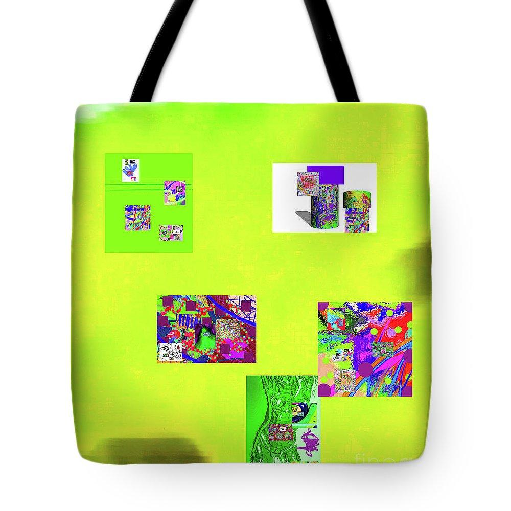 Walter Paul Bebirian Tote Bag featuring the digital art 8-10-2015abcdefghijklmnopqrtu by Walter Paul Bebirian