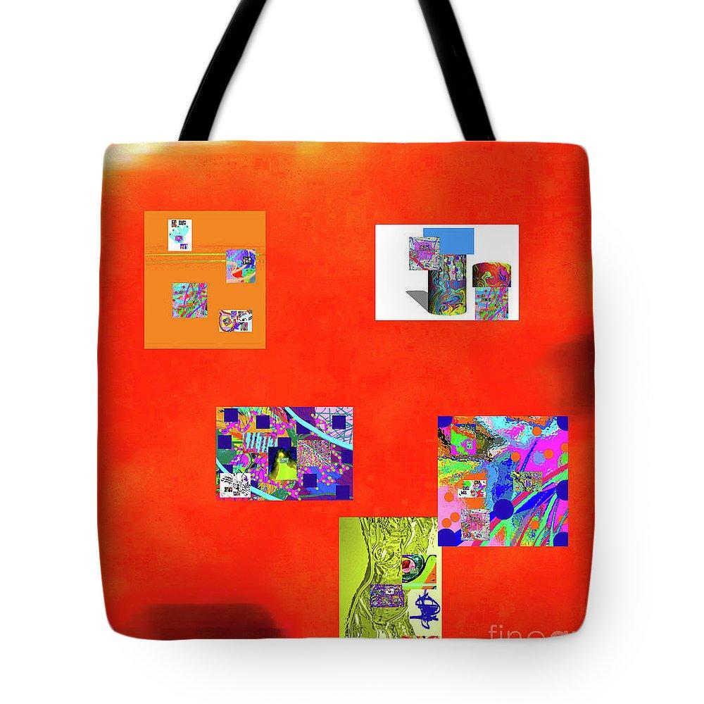 Walter Paul Bebirian Tote Bag featuring the digital art 8-10-2015abcdefghijklmnopqrtuvwwxyz by Walter Paul Bebirian
