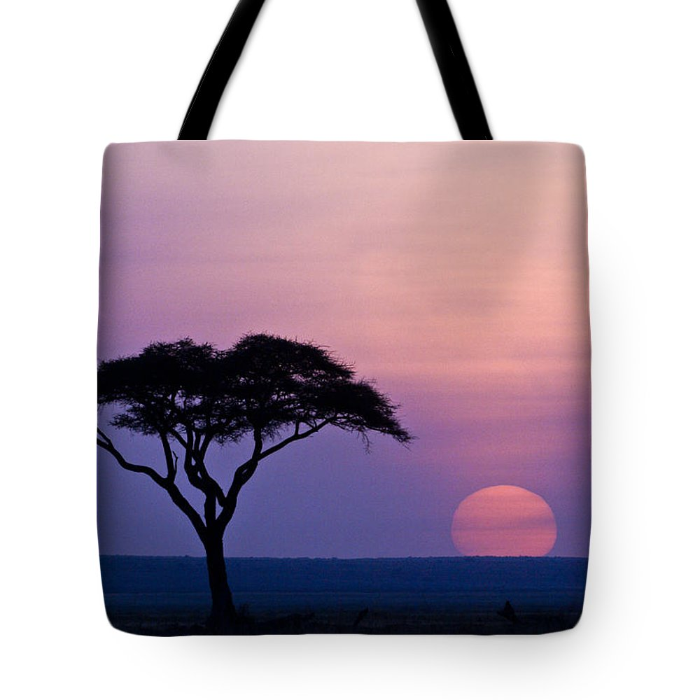 Africa Tote Bag featuring the photograph African Sunrise by Michele Burgess