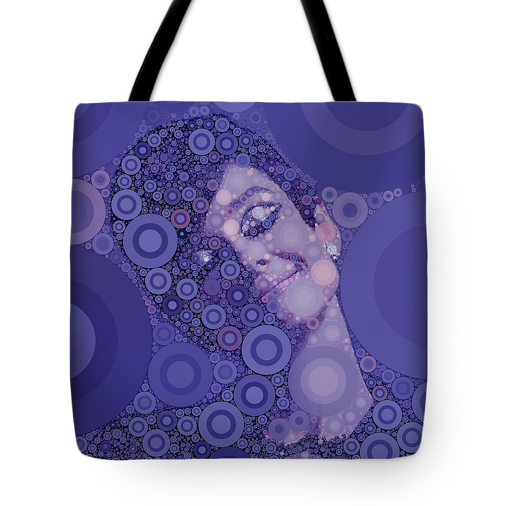 Hollywood Tote Bag featuring the digital art Audrey Hepburn by John Springfield