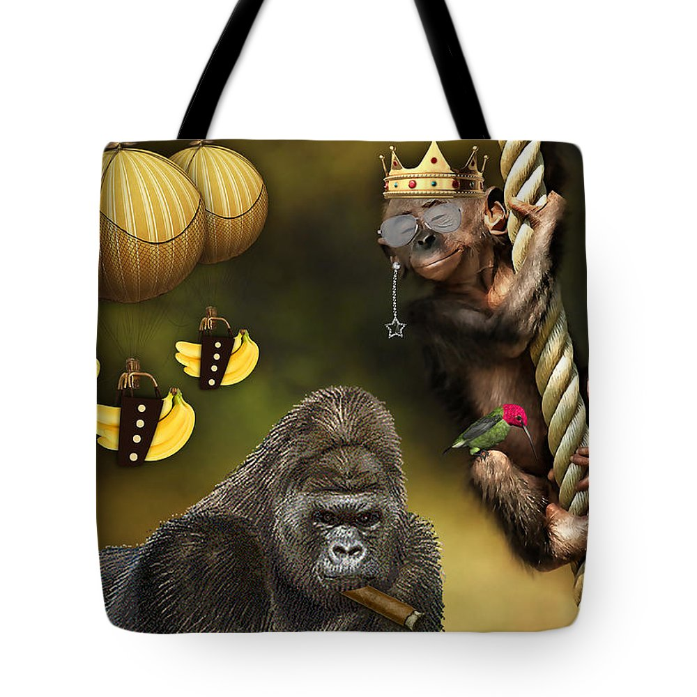 Banana Tote Bag featuring the mixed media Bananas by Marvin Blaine