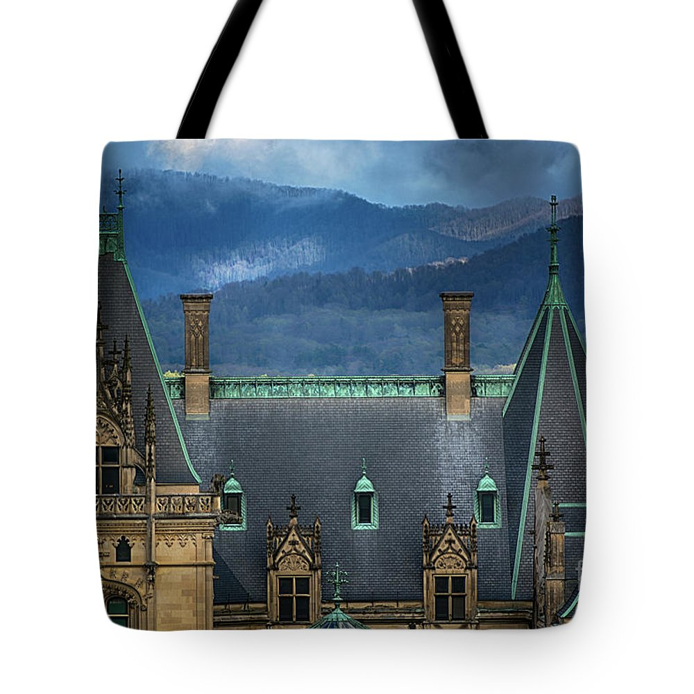 Asheville Tote Bag featuring the photograph Biltmore Estate by Doug Sturgess