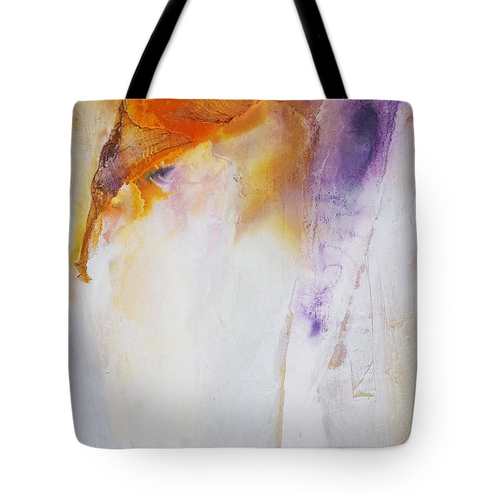 Abstract Tote Bag featuring the painting Conceptional Views by Leah Hicks