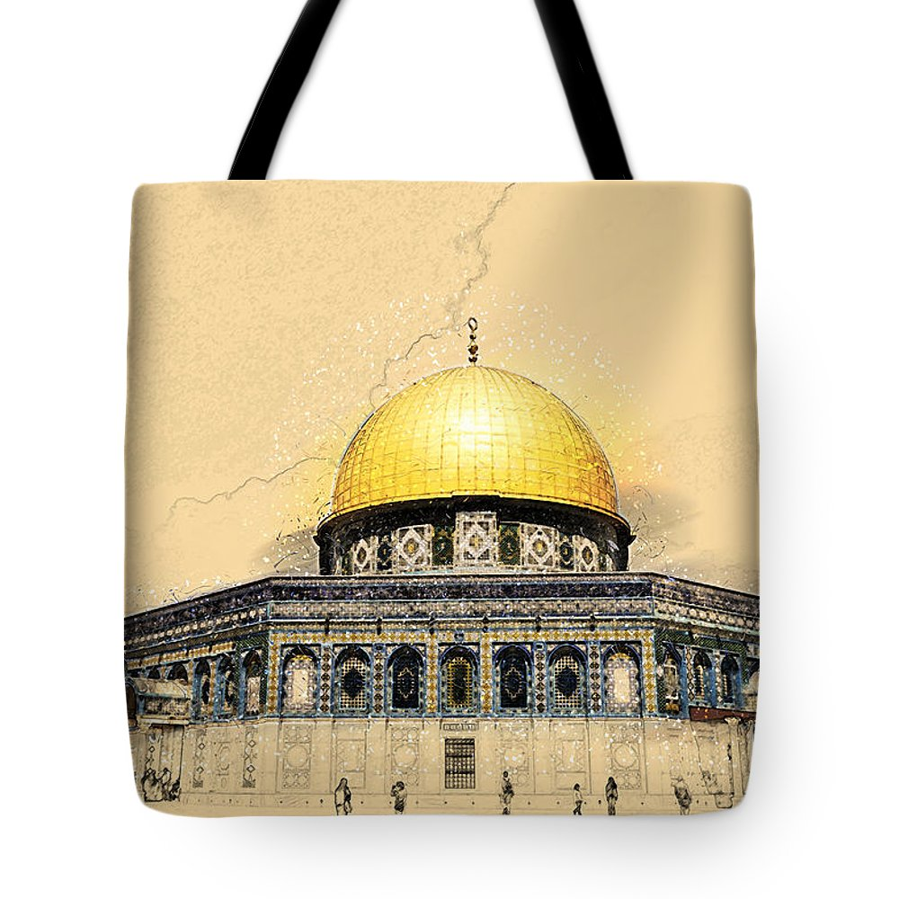 Jerusalem Tote Bag featuring the photograph Dome Of The Rock by Shay Levy