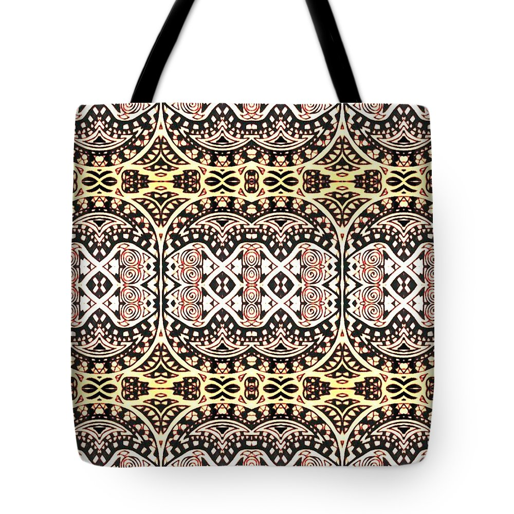 Art Tote Bag featuring the digital art Polynesian Repeat by Sharon Bigland