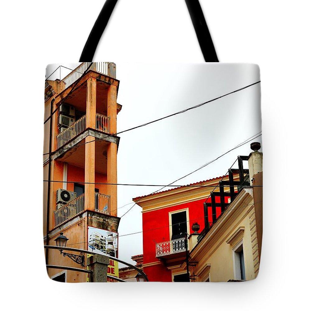 City Scene Tote Bag featuring the photograph La Maddalena -sardinia by Gianni Bussu