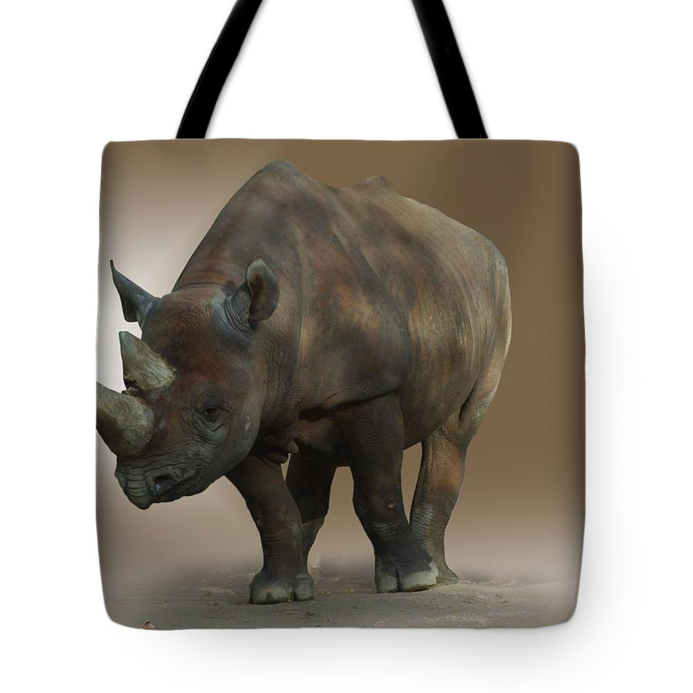 Rhinoceros Tote Bag featuring the photograph Rhino by FL collection