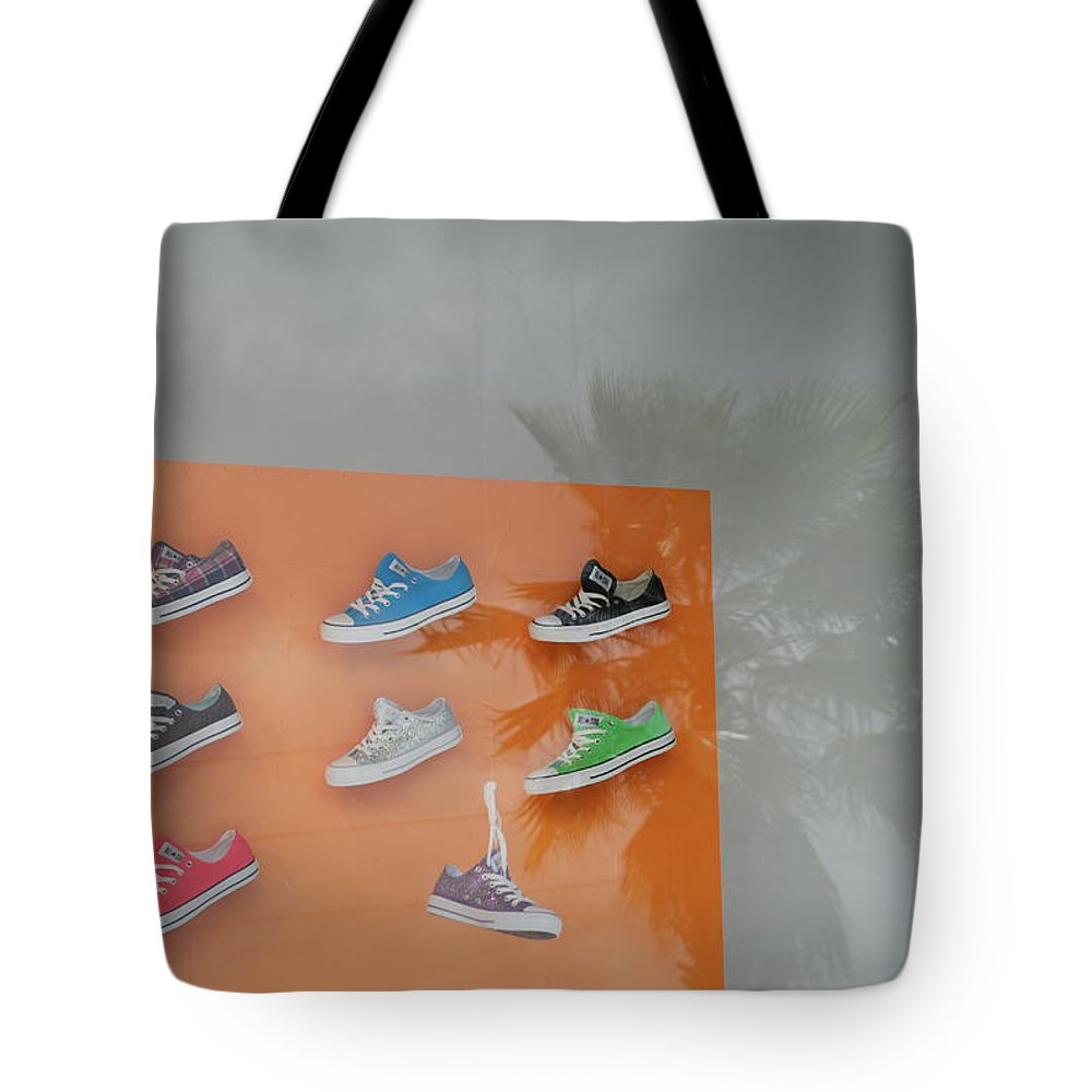 Orange Tote Bag featuring the photograph 8 Sneakers by Rob Hans