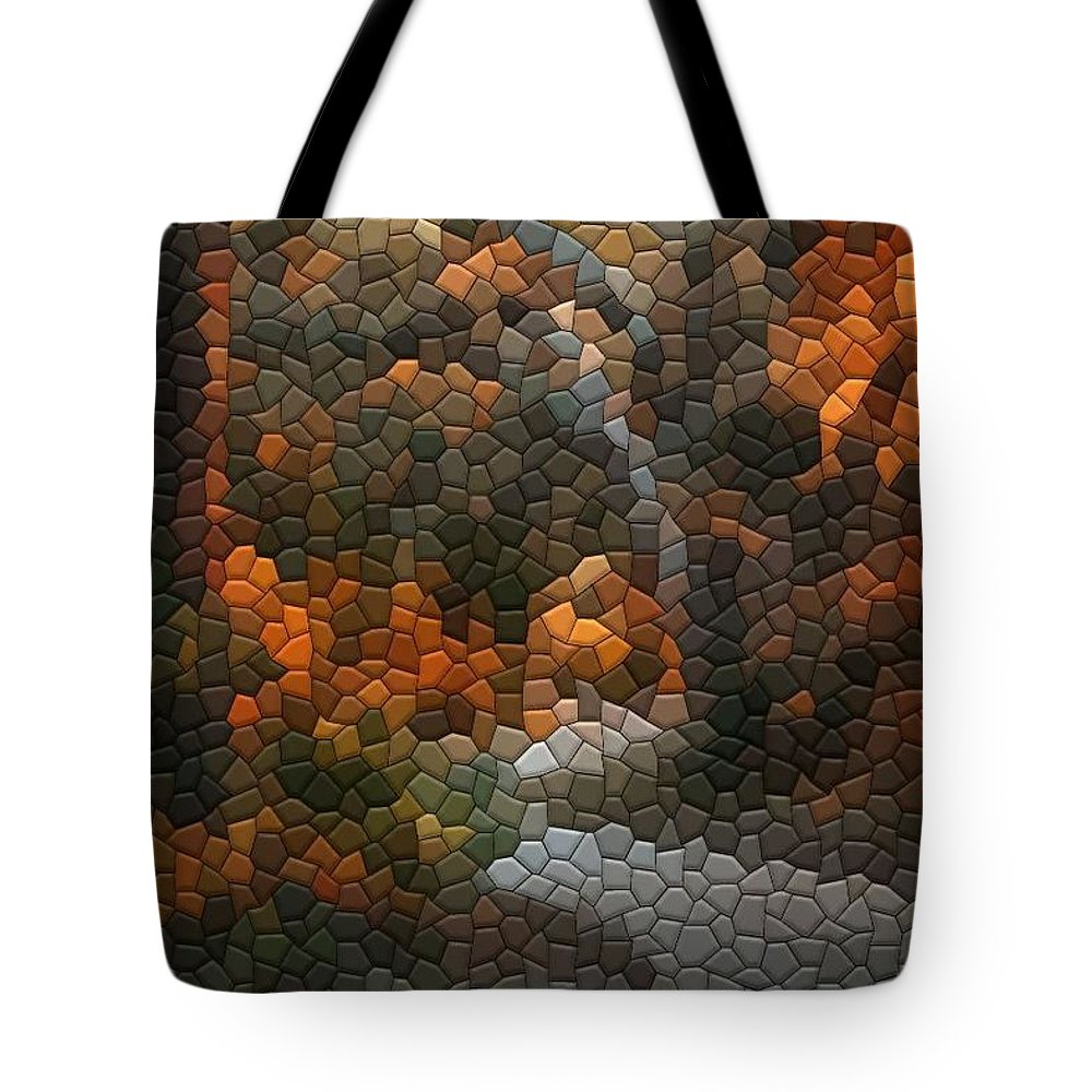 Mosaic Tote Bag featuring the photograph Spanish Moss by Kathryn Meyer