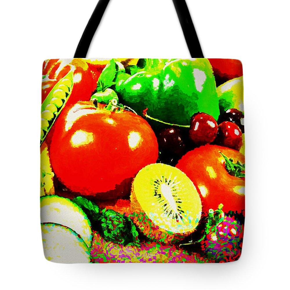 Still Life Tote Bag featuring the digital art Still Life by Lora Battle