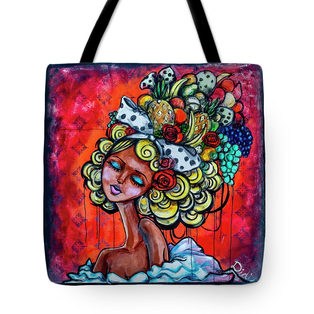 Florida Tote Bag featuring the photograph 8334-1- Little Havana Mural by David Lange