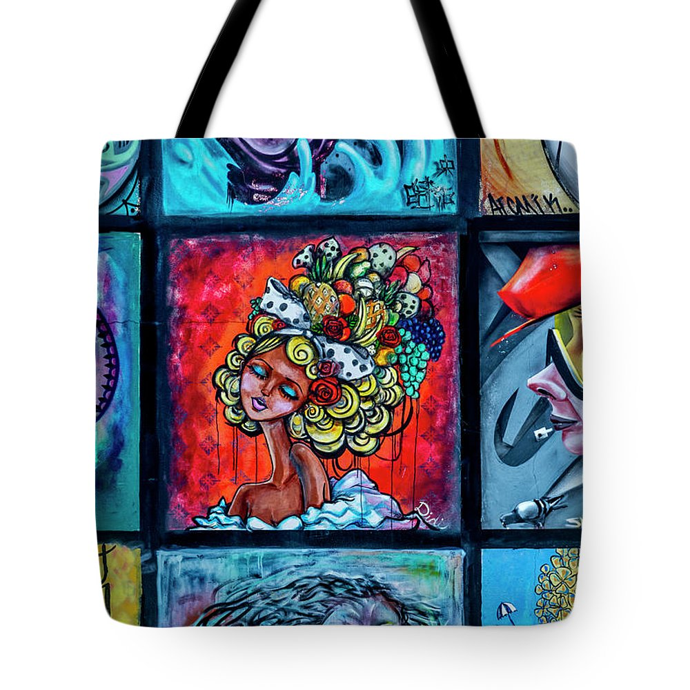 Florida Tote Bag featuring the photograph 8334-2- Little Havana Mural by David Lange