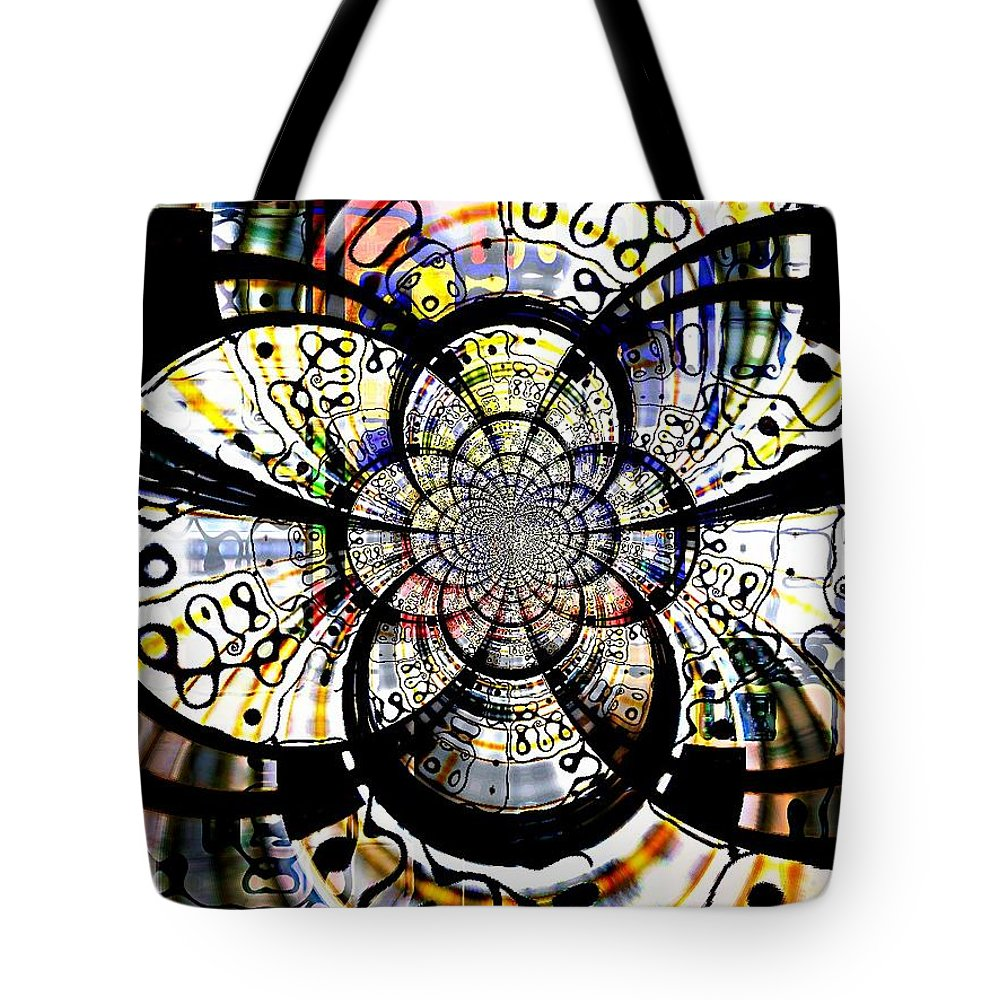 Abstract Tote Bag featuring the digital art 88 by Donna Bentley