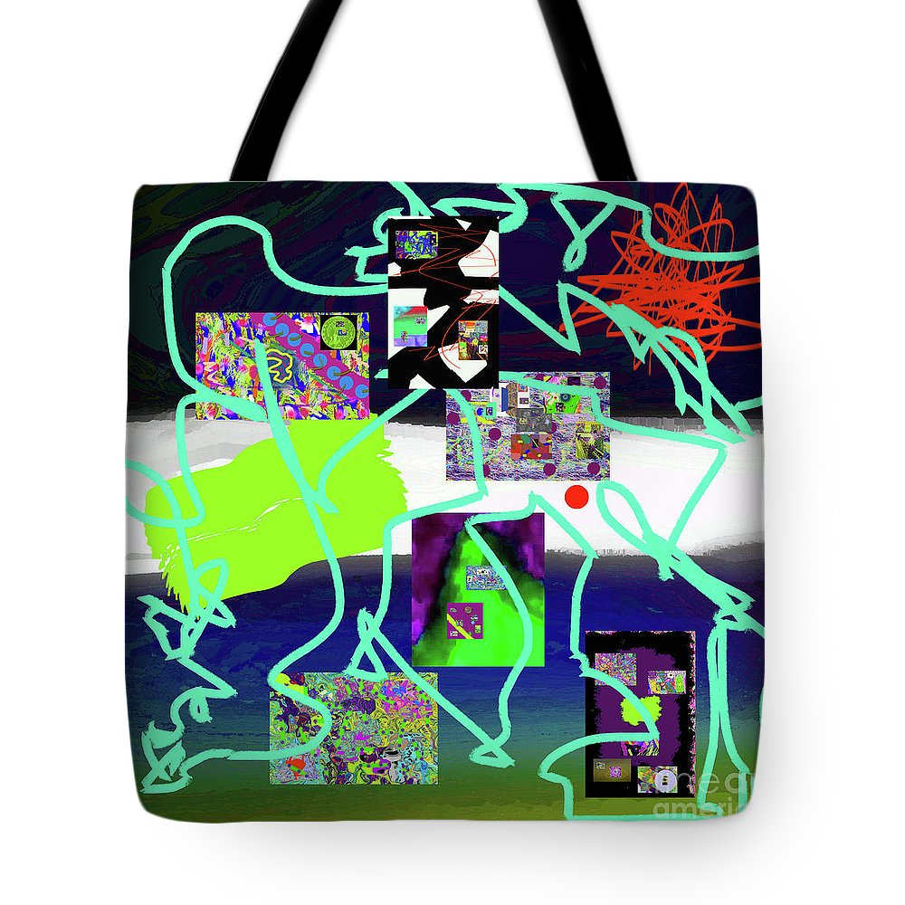Walter Paul Bebirian Tote Bag featuring the digital art 9-18-2015babcdefghijklmnopqrtuvwx by Walter Paul Bebirian