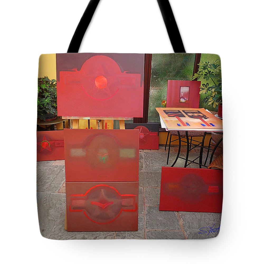 Usaaf Insignia Tote Bag featuring the painting 9 21 2010 by Charles Stuart