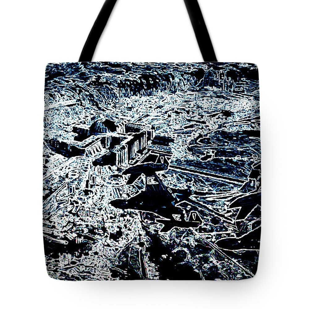 Abstract Tote Bag featuring the digital art Abstract by Lora Battle
