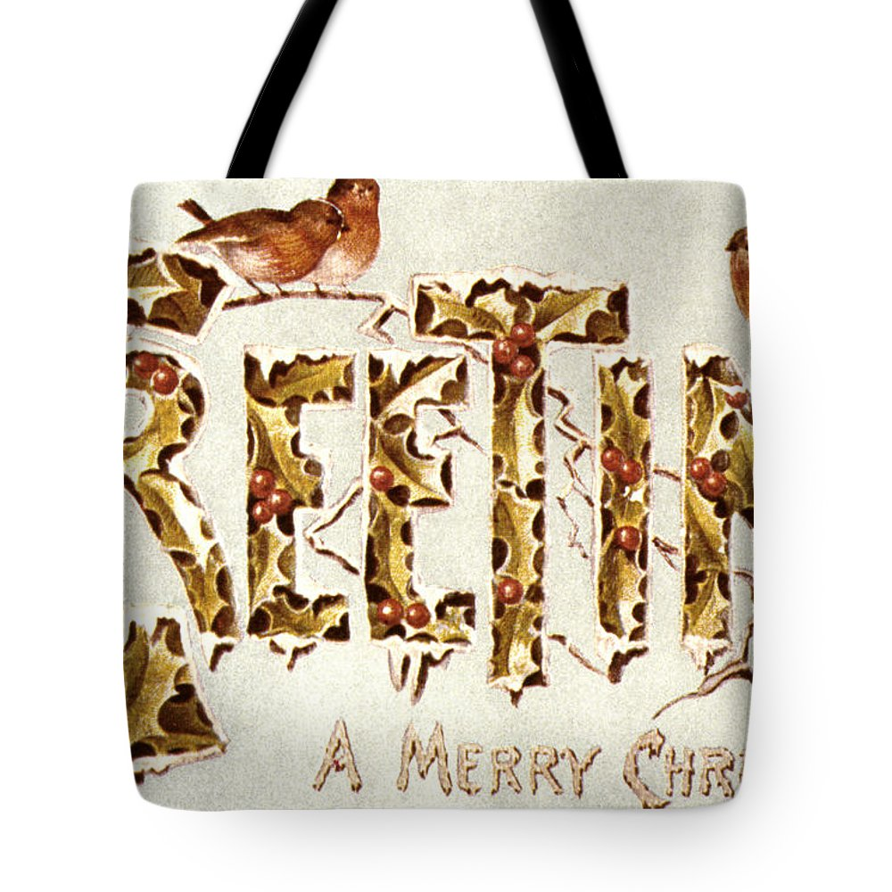 19th Century Tote Bag featuring the painting American Christmas Card by Granger