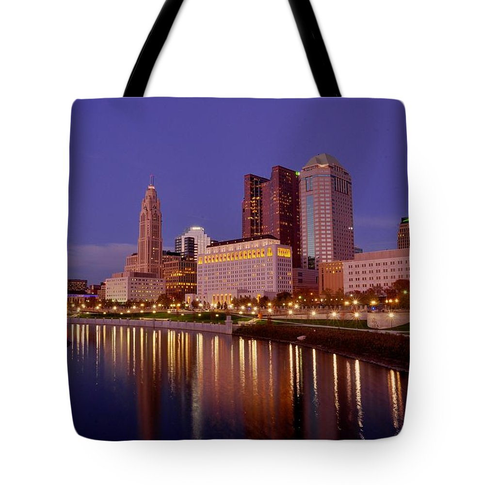 Columbus Tote Bag featuring the photograph Columbus, Ohio by David Kelso