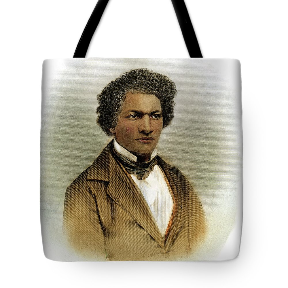 1854 Tote Bag featuring the drawing Frederick Douglass by Granger