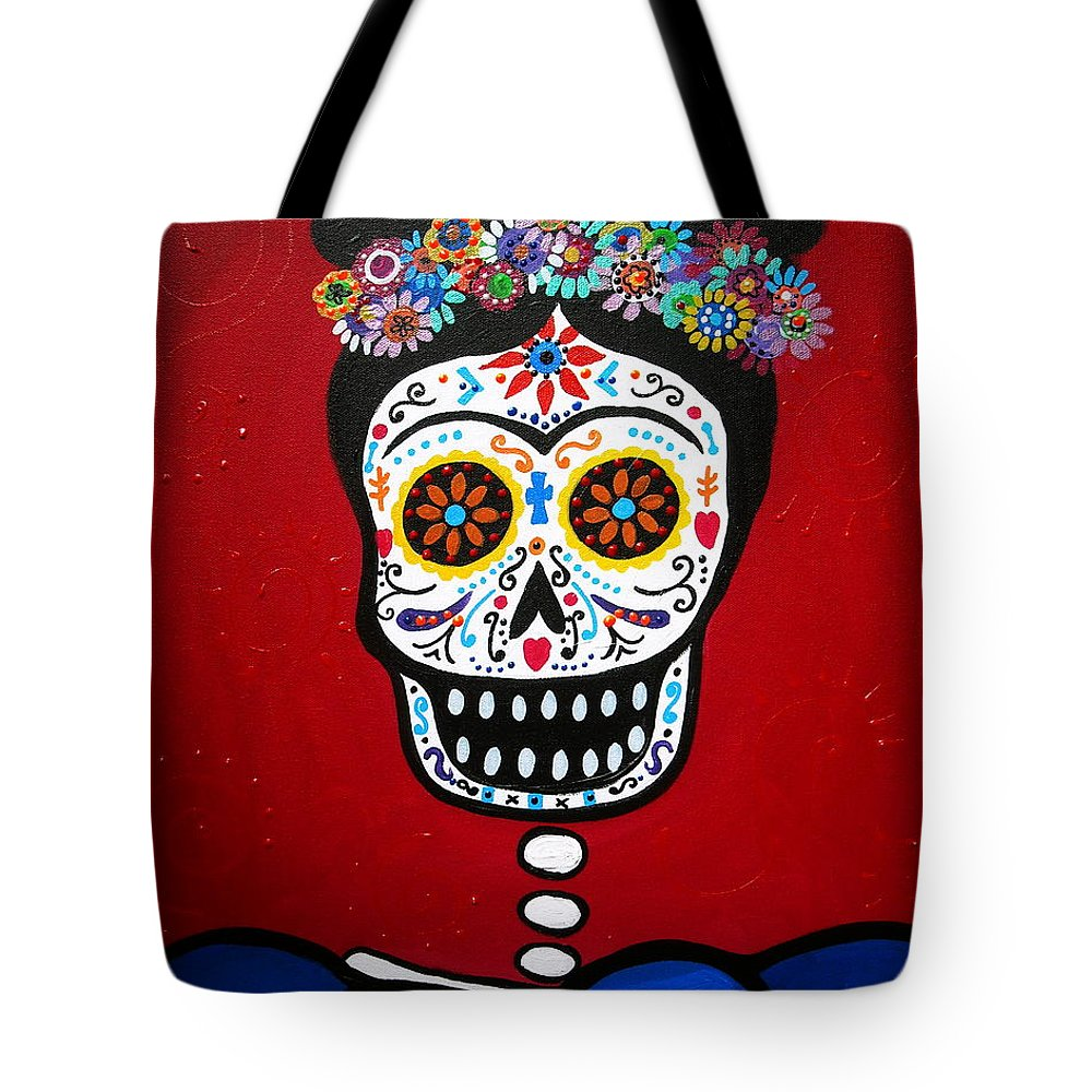 Frida Tote Bag featuring the painting Frida Kahlo by Pristine Cartera Turkus