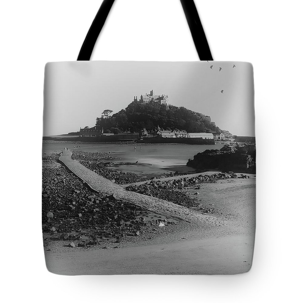 Sea Tote Bag featuring the photograph St Michaels Mount by Martin Newman