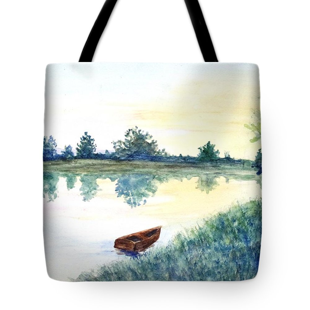 Boat Tote Bag featuring the painting Untitled by Tara Tyson