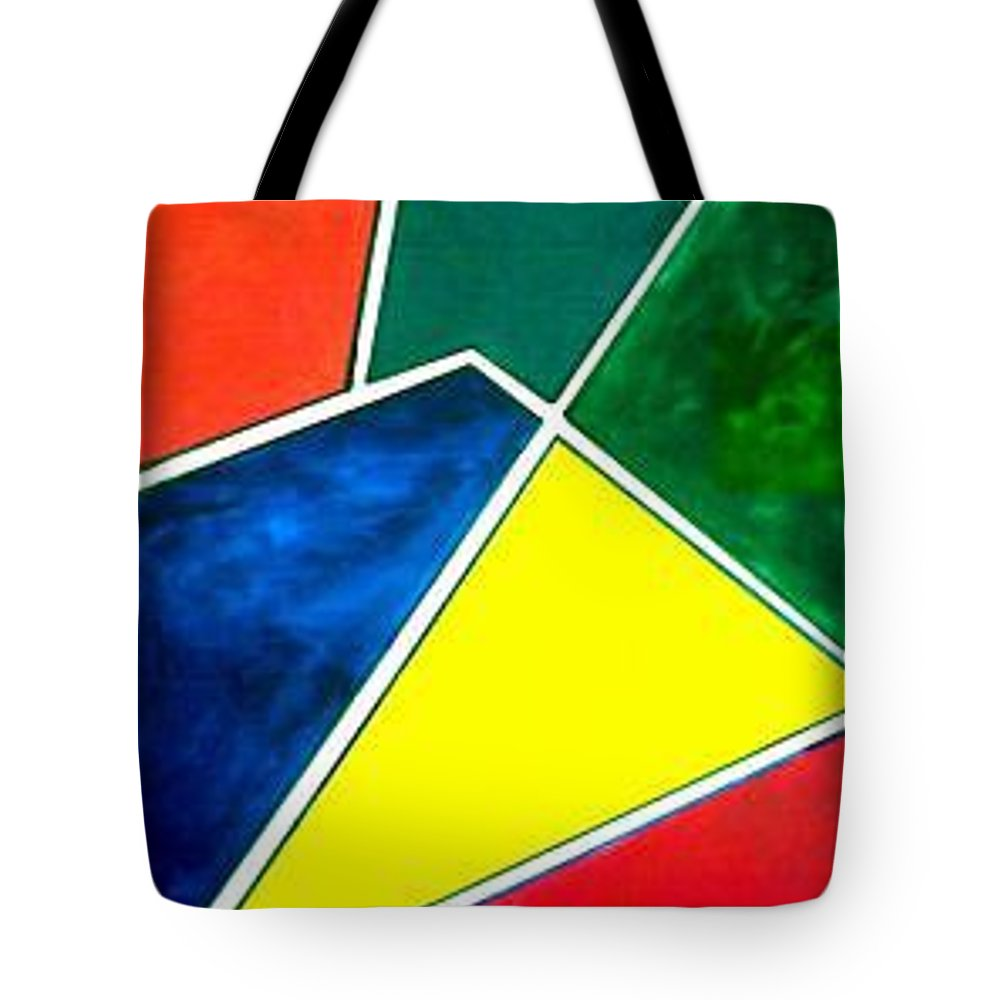 Primary And Sondary Colors Tote Bag featuring the painting 99870 Colors by Andrew Johnson