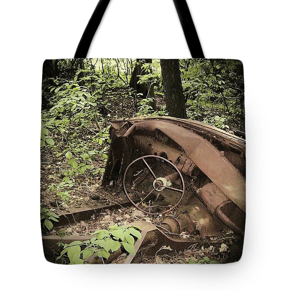 Urban Decay Collection By Serge Averbukh Tote Bag featuring the photograph Abandoned 50s Classic.... by Serge Averbukh
