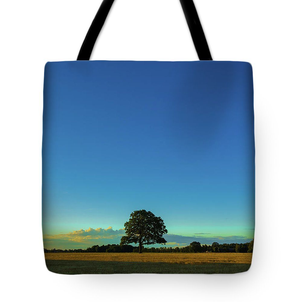 Outdoor Tote Bag featuring the photograph A Beautiful Lonely Tree by Andreas Hoff