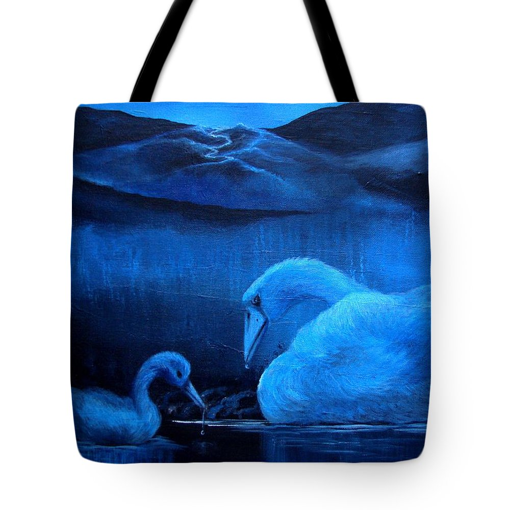 Tote Bag featuring the painting A Beautiful Night by Glory Fraulein Wolfe