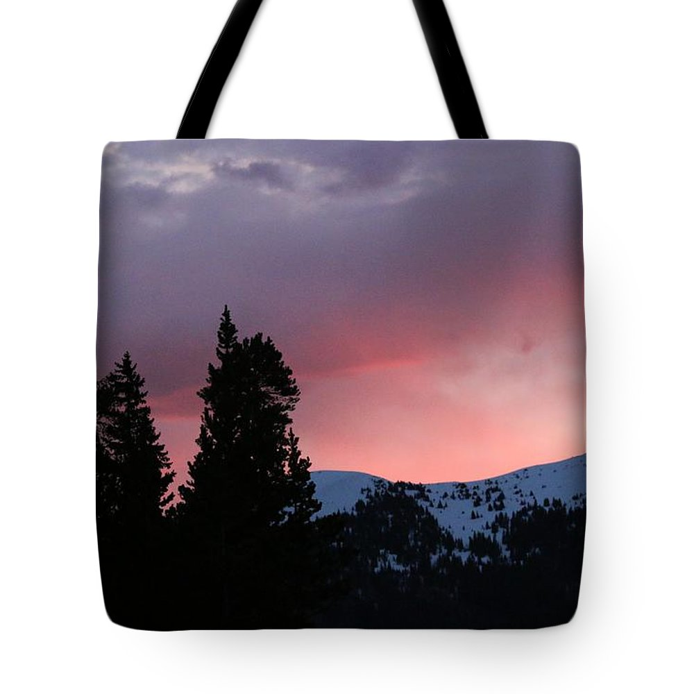 Landscape Tote Bag featuring the photograph The Beginning Of A Beautiful Day by Angela Koehler