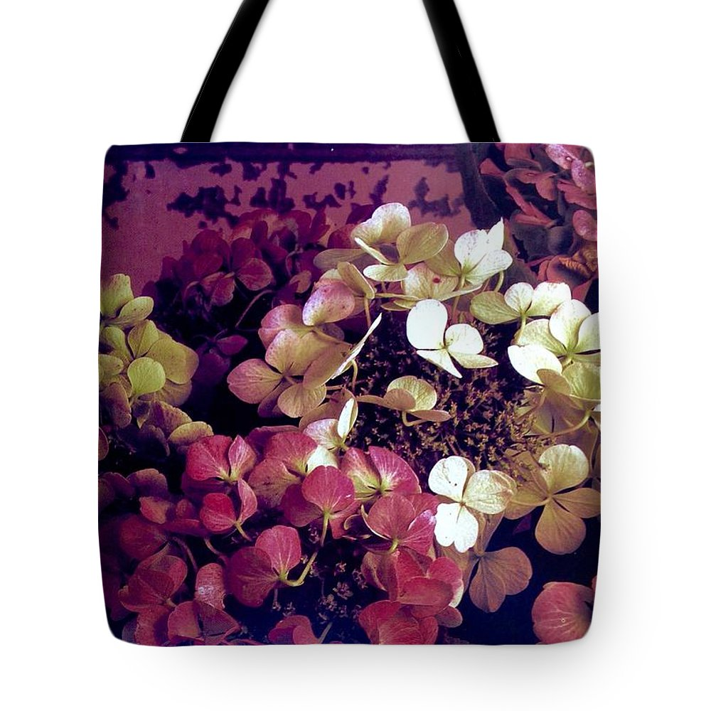 Tote Bag featuring the photograph A Bevy Of Hydrangeas by Jacqueline Manos