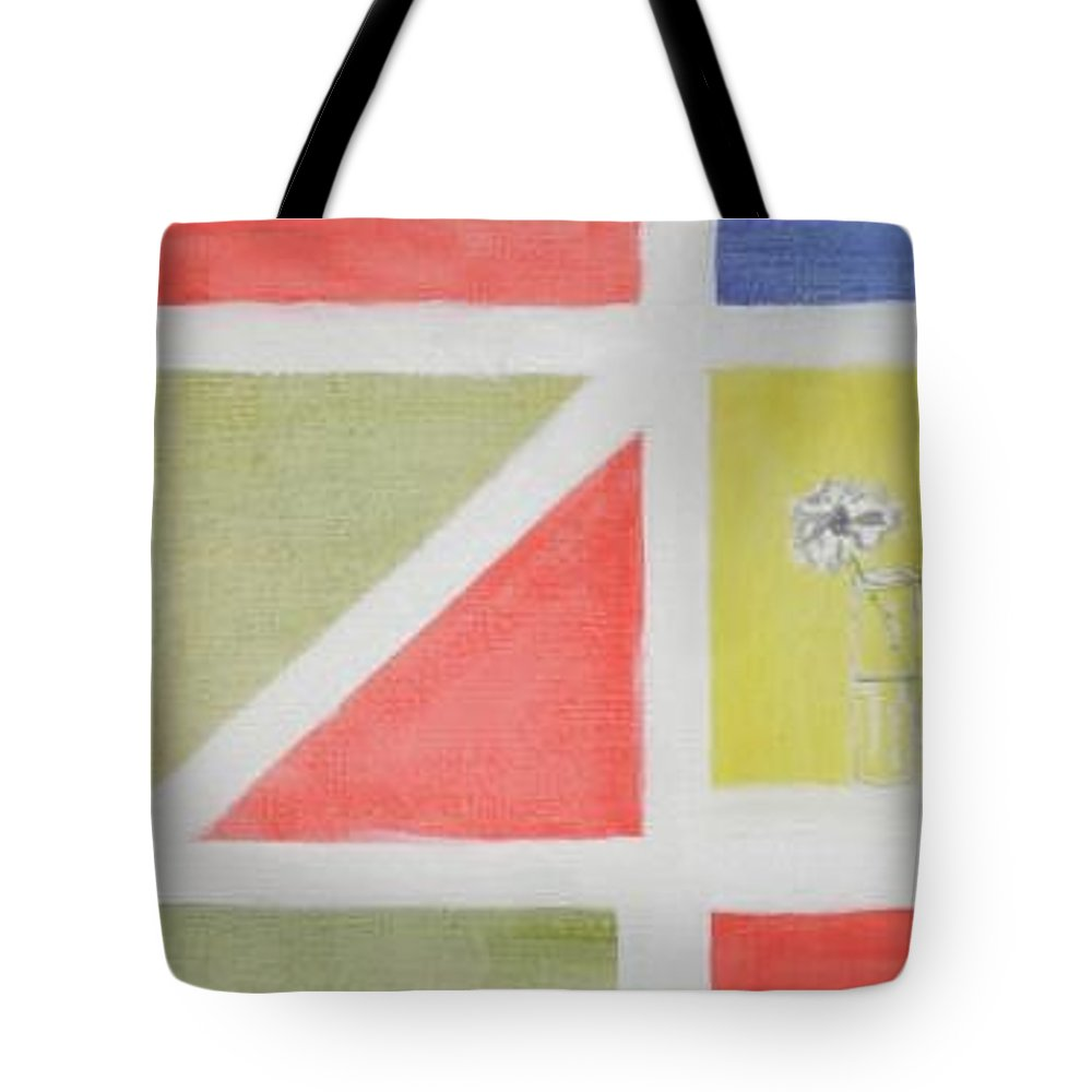 Abstract James Joyce Molly Bloom Tote Bag featuring the painting A Bloom For Molly by Roger Cummiskey