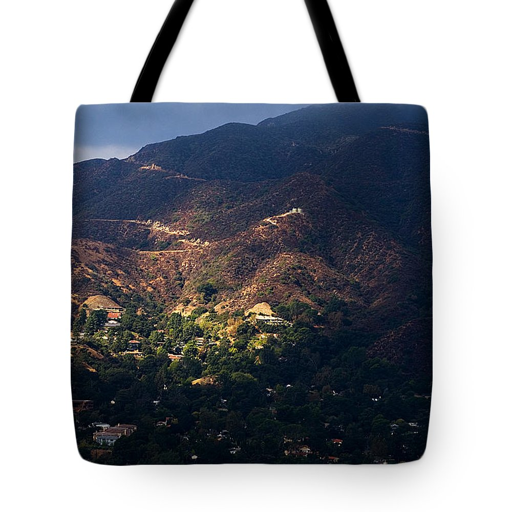 Clay Tote Bag featuring the photograph A Break In The Clouds In Southern California by Clayton Bruster