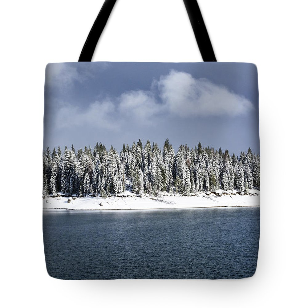 Lake Tote Bag featuring the photograph A Break In The Storm by Doug Holck