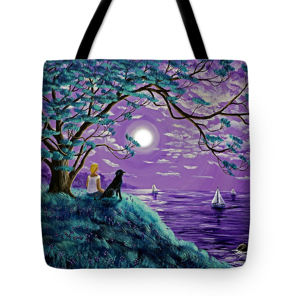 Lab Tote Bag featuring the painting A Breeze From The Bay by Laura Iverson