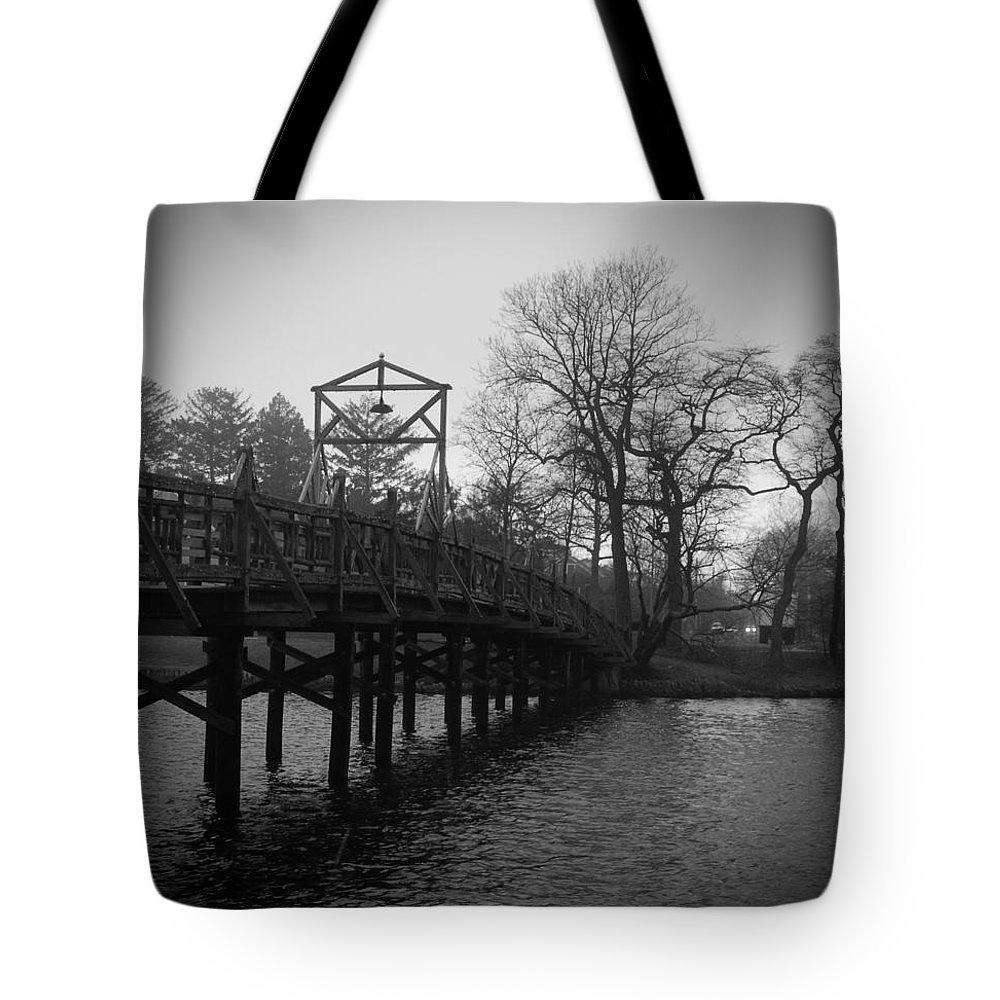 Bridge Tote Bag featuring the photograph Homage To Spring Lake by Jethro Singer