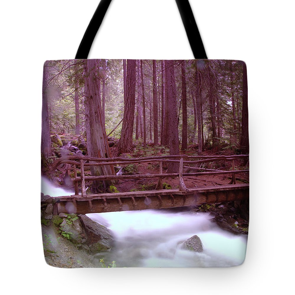 Water Tote Bag featuring the photograph A Bridge To Paradise by Jeff Swan