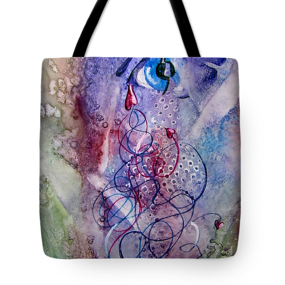 Abstract Tote Bag featuring the painting A Broken Eye Still Cries by Marsha Elliott