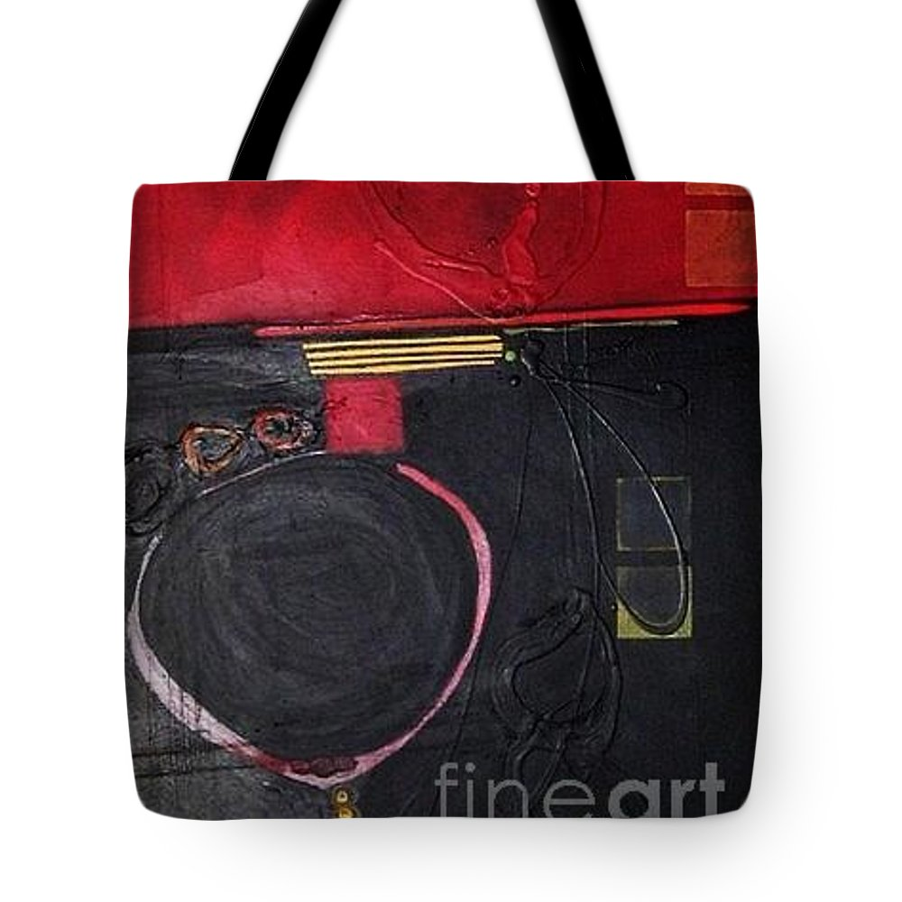 Abstract Tote Bag featuring the painting A Broken Heart by Marlene Burns