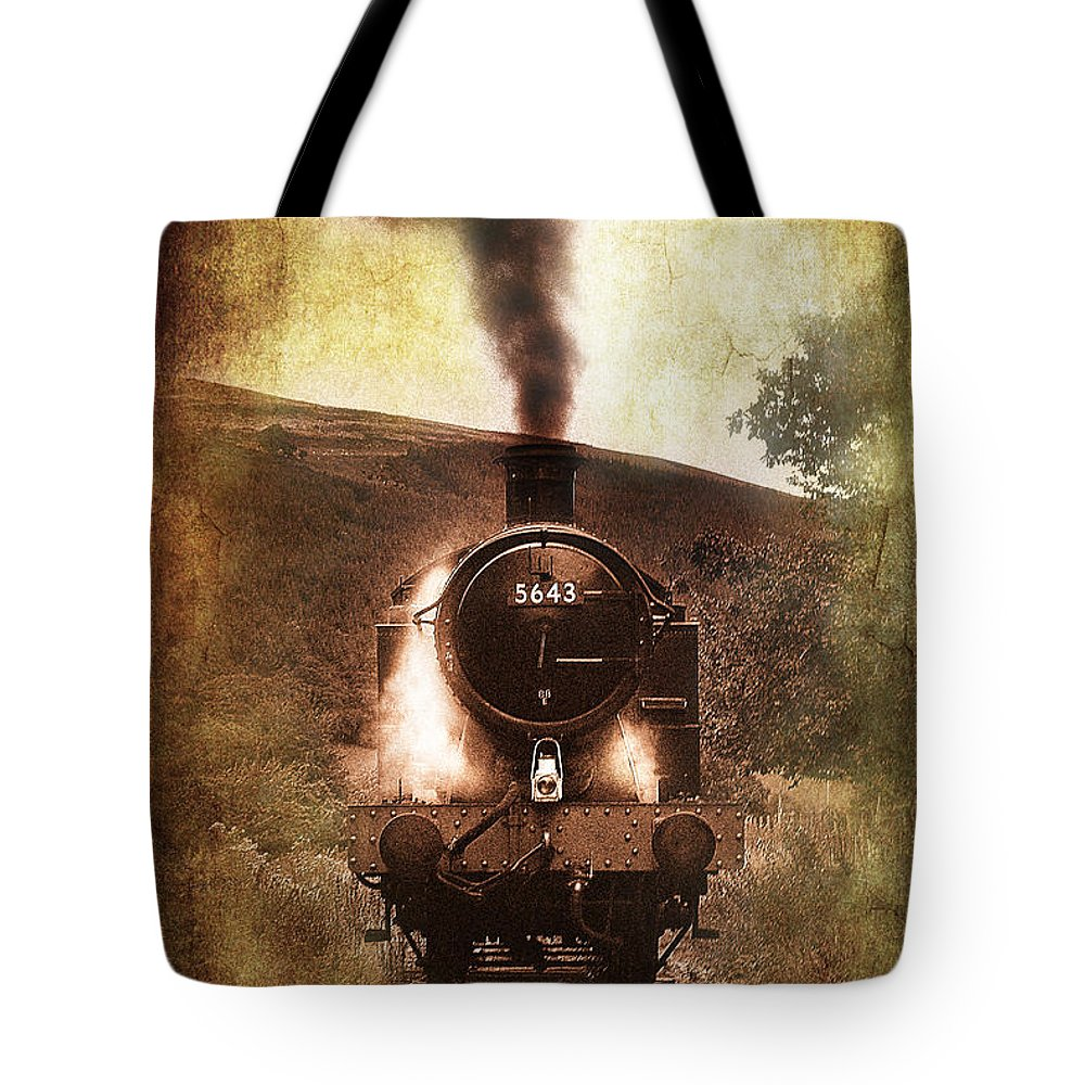 Train Tote Bag featuring the photograph A Bygone Era by Meirion Matthias