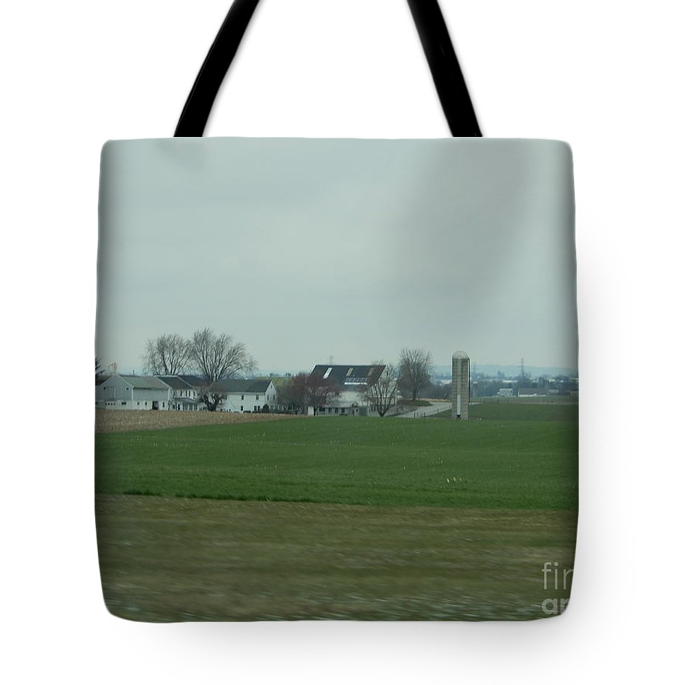 Amish Tote Bag featuring the photograph A Calm And Cloudy Day by Christine Clark